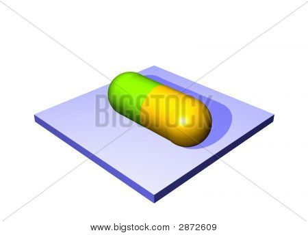 Antibiotics Pill - Medical Icons Isolated