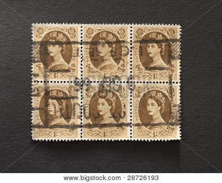 One Shilling Postage Stamps From Great Britain