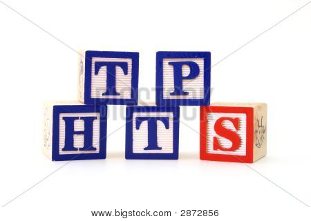 Wooden Blocks Spell HTTPS