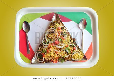 Indian Chaat Snack Masala Or Sev Puri