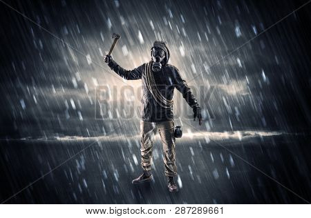 Terrorist in a stormy space
