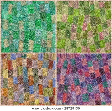 Mosaico de mohair