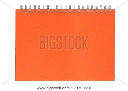 Orange Notebook On A Spring
