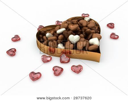 Heart Box Of Candy Chocolates
