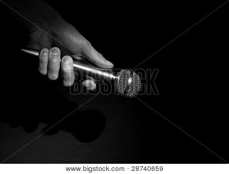 Hand on the Microphone