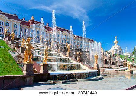 Grand Cascade fountain in petergof, Russia
