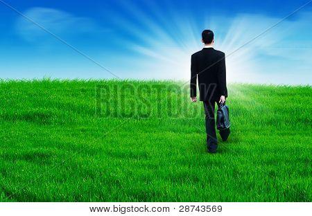 Walking toward a bright future