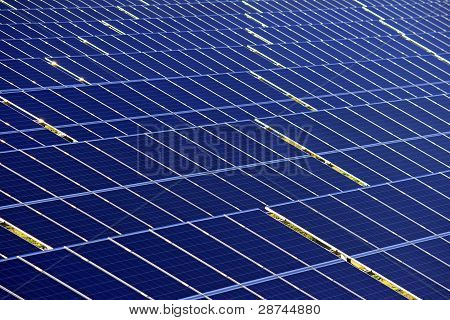 Detail Of Photovoltaic Panels Under Sun Light