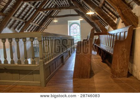 Pews Upstairs In A Very Small Church