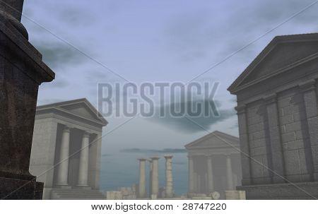3D Historic Render Classical Roman Greek City