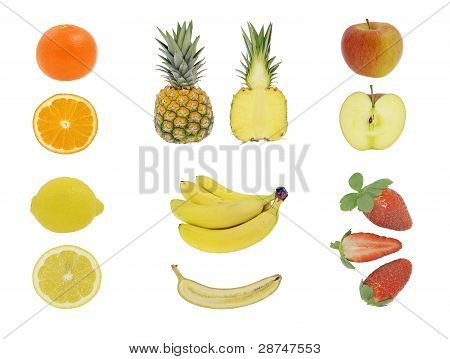Fruit isolated on white