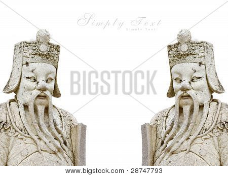 Isolate Statues of ancient China 2 copy image