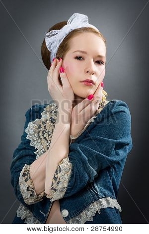 Fashion Portrait Of A Beautiful Girl