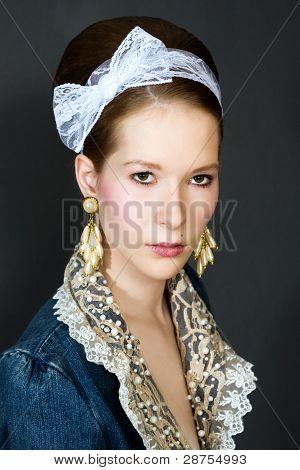 Fashion Portrait Of A Young Beautiful Girl