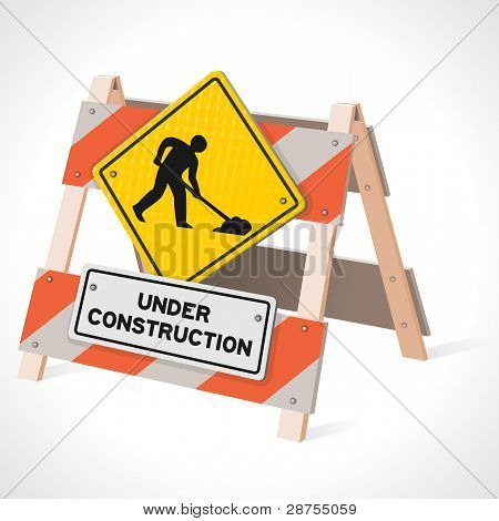 Under Construction Road Sign