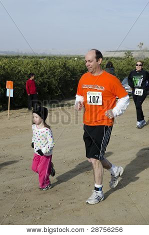 Father and Daughter Runners