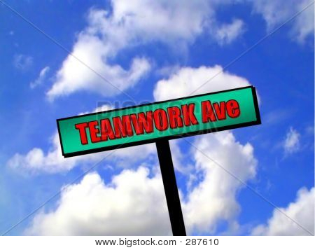 Sign - Teamwork Avenue