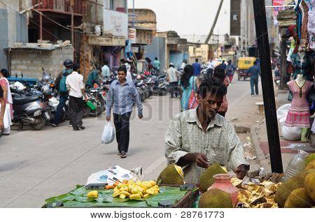 Vendor Selling Coconuts In Bangalore