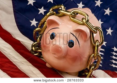 Piggy Chained Up.