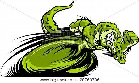 Imagem de gráfico vetorial Gator ou Croc mascote de corrida