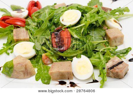 Quail Eggs And Tongue Salad