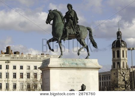 France; Lyon; Lyons; Bellecour Square; Place Bellecour