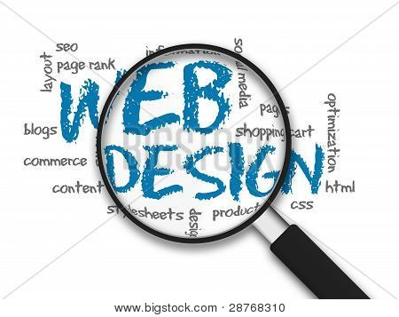 Magnifying Glass Web-design