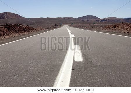 road in San Pedro de Atacama desert