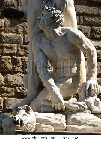Florence - Sculpture Hercules and Cacus by Bandinelli