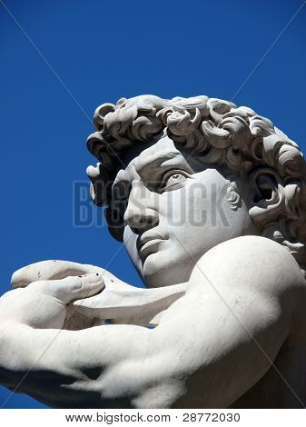 Florence - The statue of David by Michelangelo in Piazza Signori