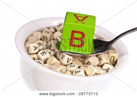 Vitamin-rich alphabet soup featuring vitamin b