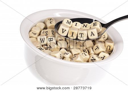 Vitamin-rich alphabet soup