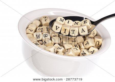 Vitamin-rich alphabet soup