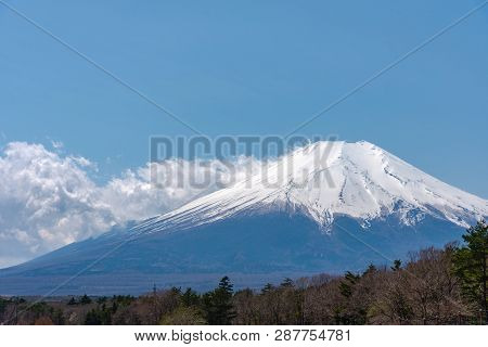 Close Up Snow Covered Mount