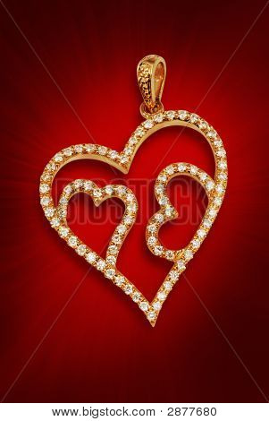 Diamond Pendent In Gold