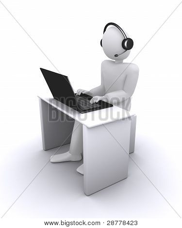 operator or manager from call-center