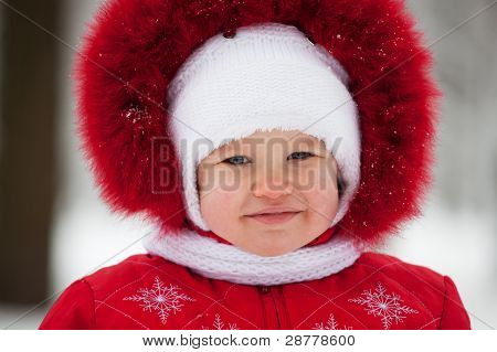 Baby In A Winter Suit
