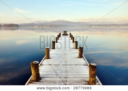 Jetty At Windermere, English Lake District