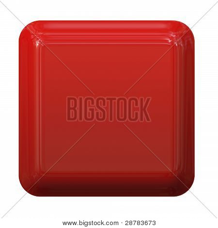 3D rendered red button template