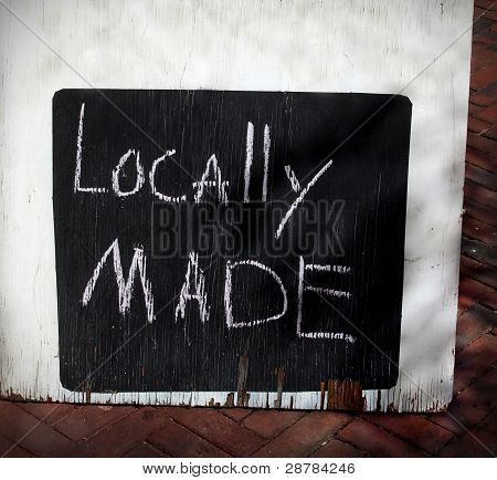 Locally Made Sign