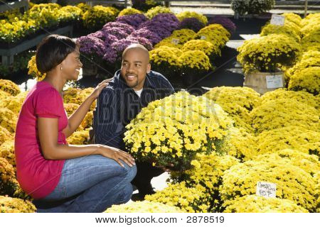 Couple Buying Flowers.