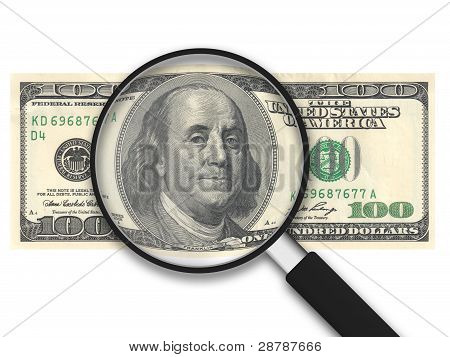 Magnifying Glass - 100 Us Dollars