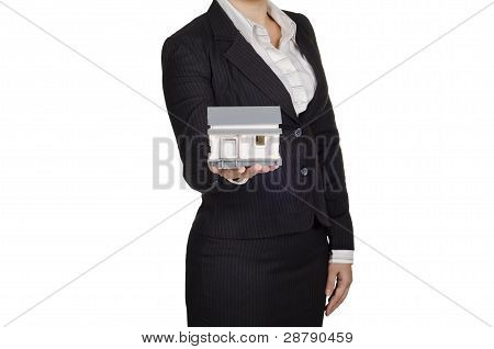 a woman real estate agent