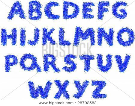 Fluffy alphabet