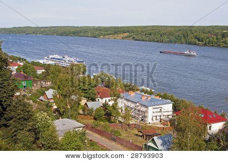 View On The Volga River. Ples, Russia