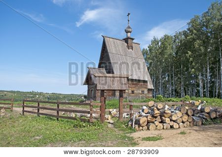 Wooden Church On The Levitan's Mount. Ples, Russia