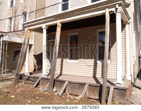 Front Porch For A Condemned Old House