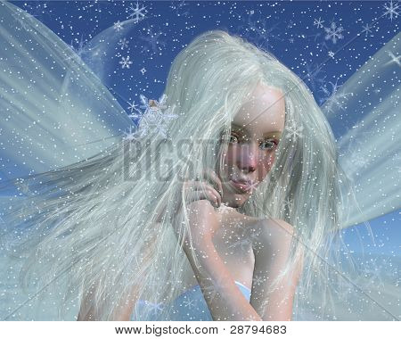 Cold Winter Fairy Portrait