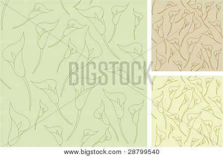 Calla seamless outline backgrounds