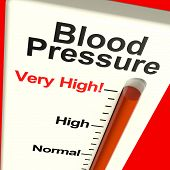 image of hypertensive  - High Blood Pressure Showing Hypertension And Lots Of Stress - JPG